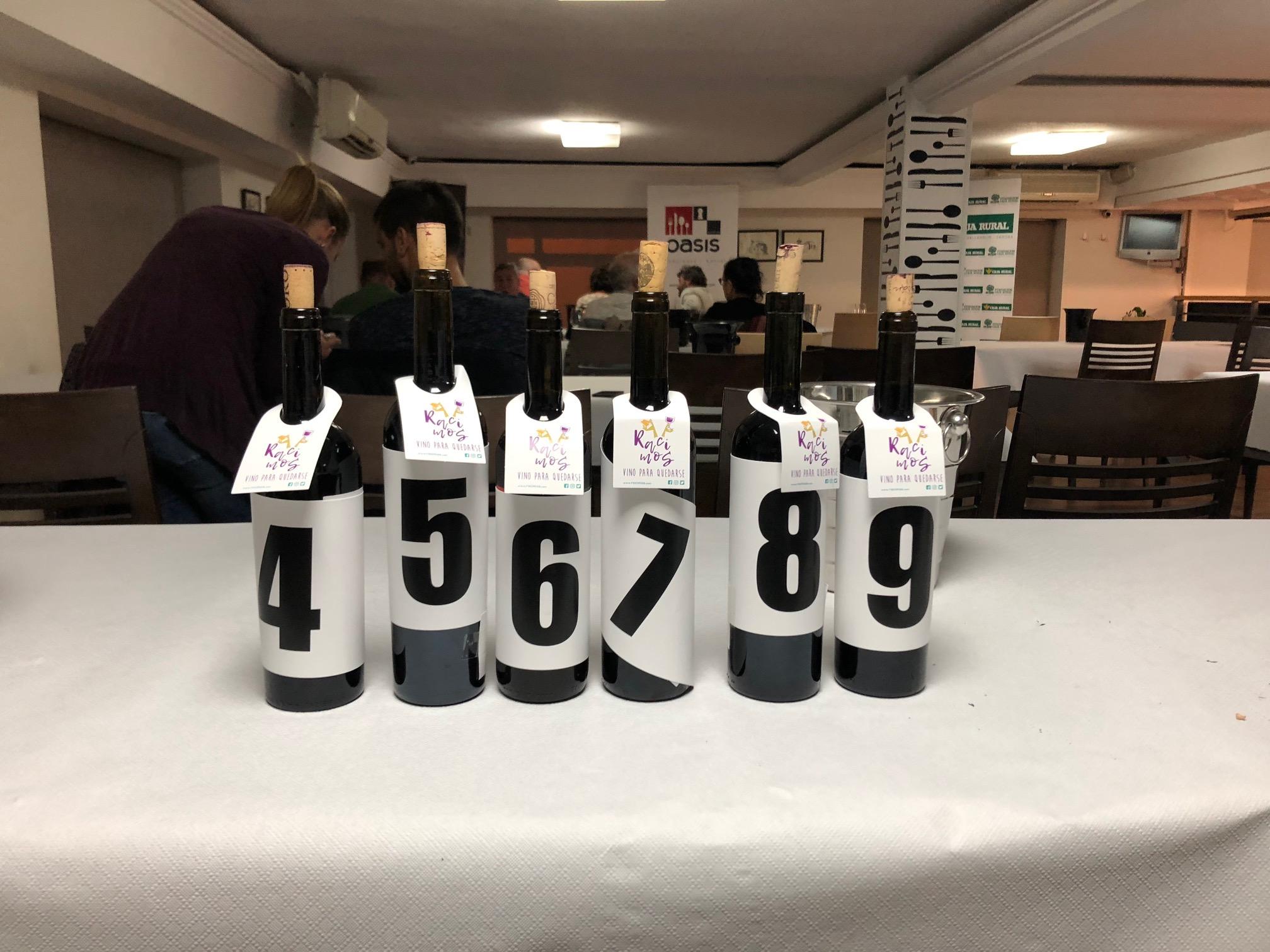 Cata a ciegas de 9 vinos de las 3 Denominaciones de Origen en el Restaurante Oasis
