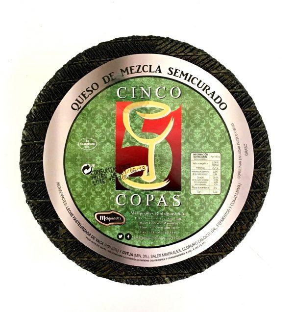 Queso de Mezcla Semicurado Cinco de Copas