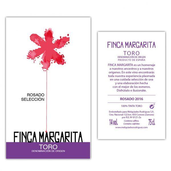 Finca Margarita Rosado. Etiqueta y contraetiqueta.